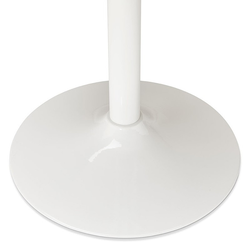 Table à manger ronde design scandinave ou bureau MAUD en MDF et métal peint (Ø 90 cm) (chêne naturel) - image 39686