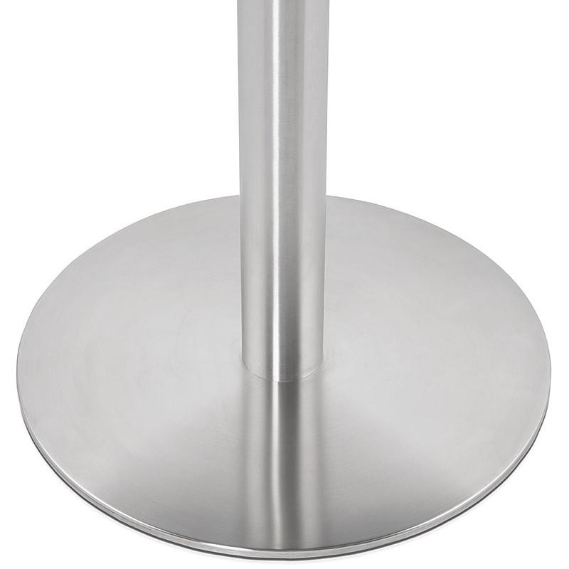 Runder Esstisch Design oder Office CARLA hölzernen Spanplatte und Metall gebürstet (O 90 cm) (schwarz, gebürstetem Stahl) - image 39759