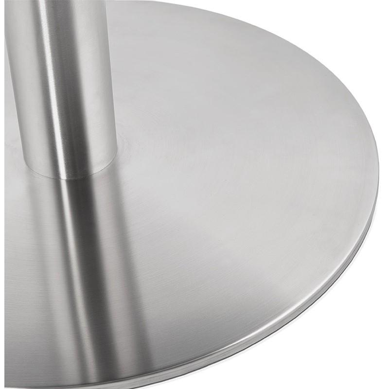 Runder Esstisch Design oder Office CARLA hölzernen Spanplatte und Metall gebürstet (O 90 cm) (schwarz, gebürstetem Stahl) - image 39760