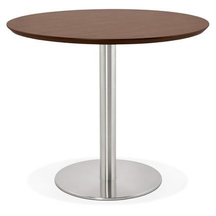 Tavolo rotondo da pranzo design o ufficio COLINE in MDF e metallo (Ø ...