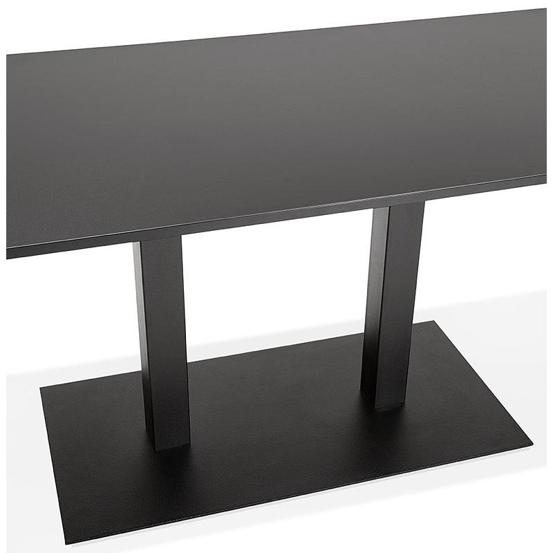 Table à manger design ou table de réunion LUCILE (160x80x75 cm) (noir) - image 39801