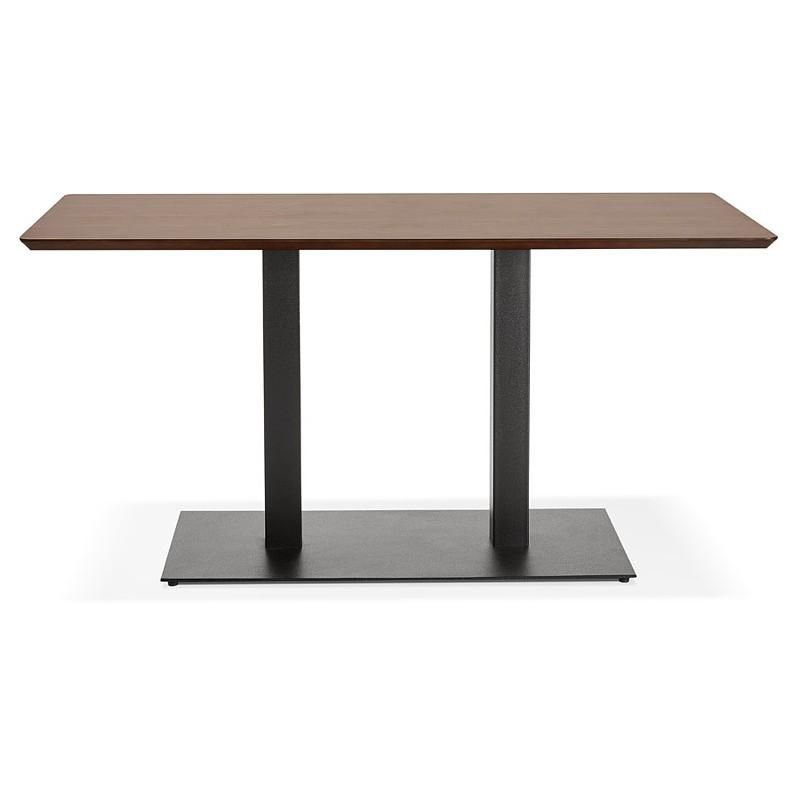 Table à manger design ou table de réunion KENZA (150x70x75 cm) (finition noyer) - image 39806