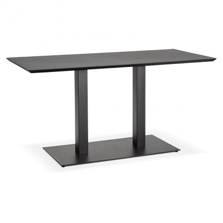 Table à manger design ou table de réunion KENZA (150x70x75 cm) (noir)