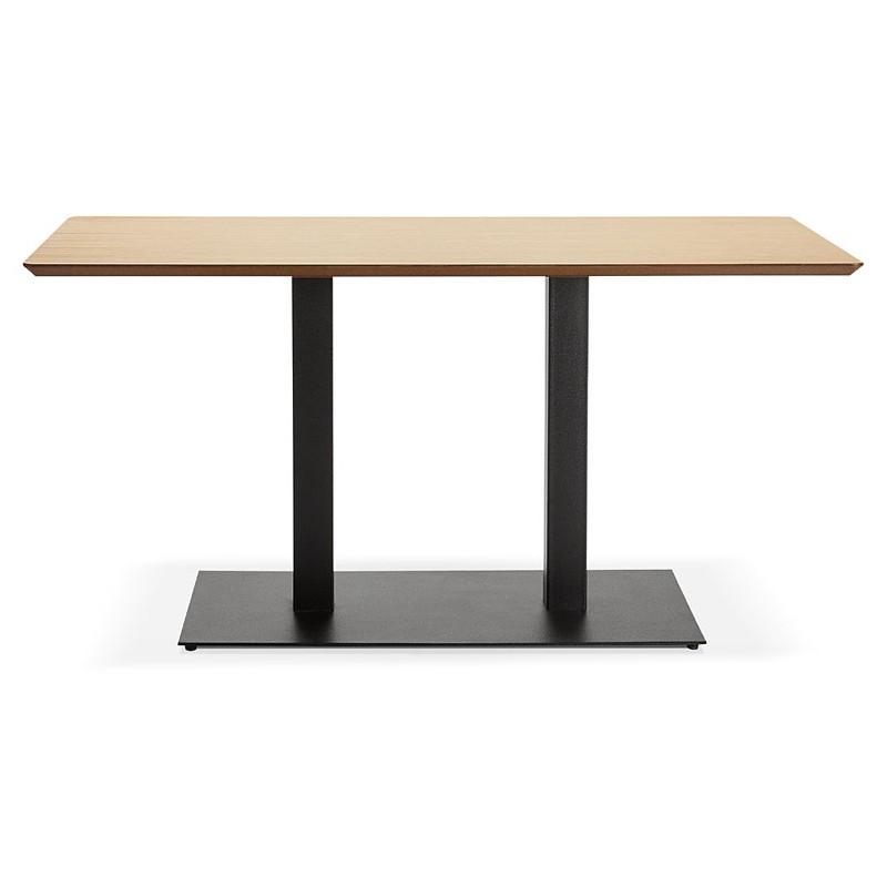 Table à manger design ou table de réunion KENZA (150x70x75 cm) (finition chêne naturel) - image 39828