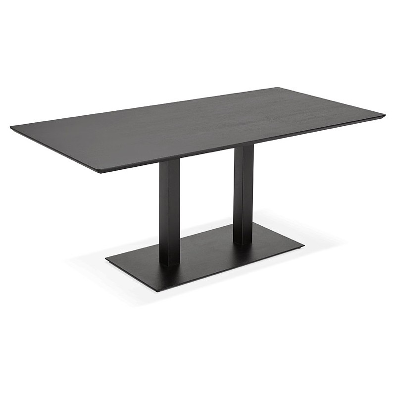 Table à manger design ou table de réunion ANDREA (180x90x75 cm) (noir) - image 39852
