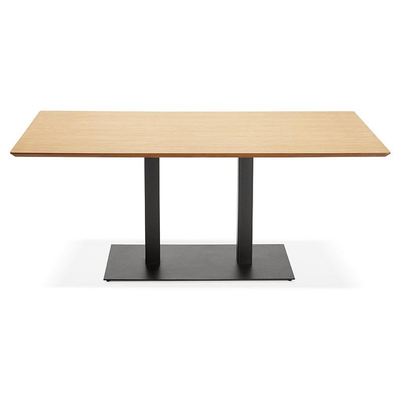 Table à manger design ou table de réunion ANDREA (180x90x75 cm) (finition chêne naturel) - image 39861