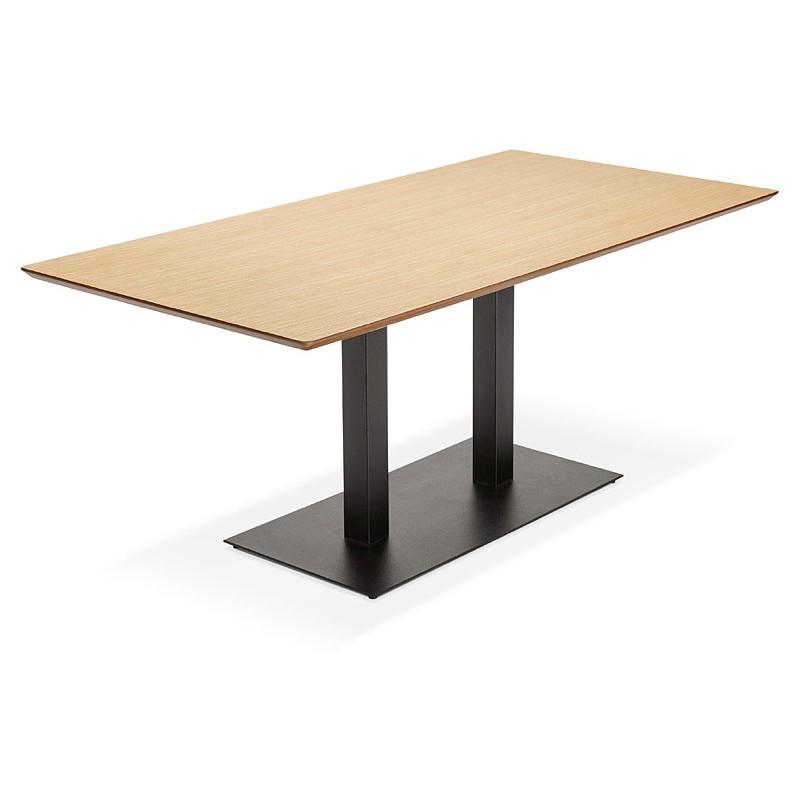Table à manger design ou table de réunion ANDREA (180x90x75 cm) (finition chêne naturel) - image 39863