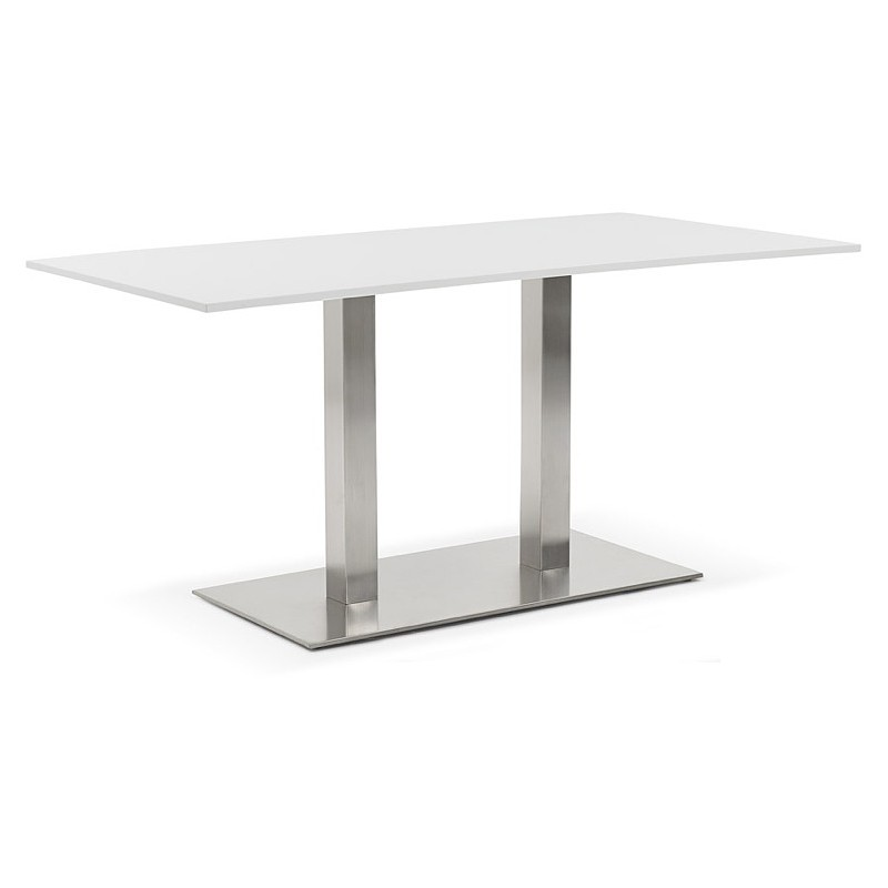 Table à manger design ou table de réunion SOLENE (160x80x75 cm) (blanc) - image 39880
