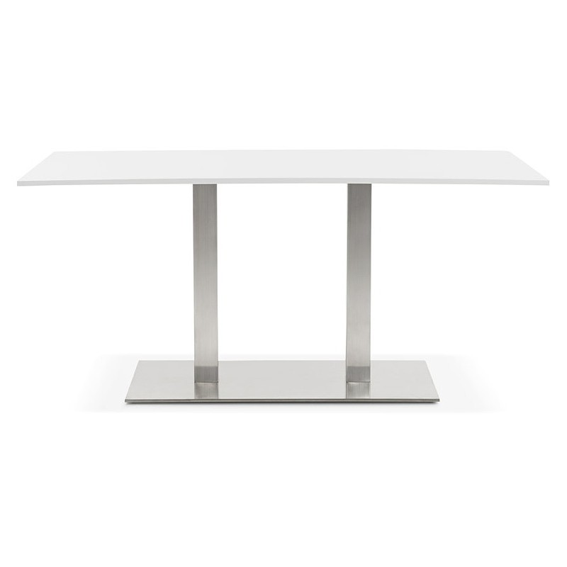 Table à manger design ou table de réunion SOLENE (160x80x75 cm) (blanc) - image 39881