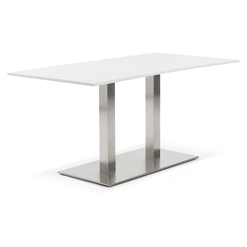 Table à manger design ou table de réunion SOLENE (160x80x75 cm) (blanc) - image 39883
