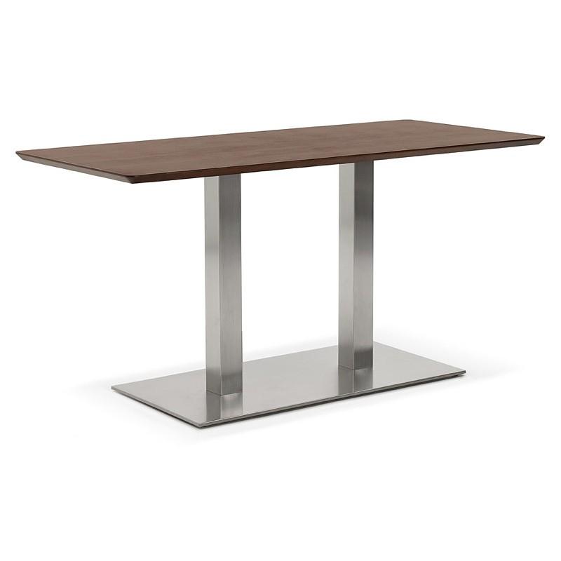 Diseño o reunión mesa de CORALIE (150 x 70 x 75 cm) (acabado en nogal) - image 39894