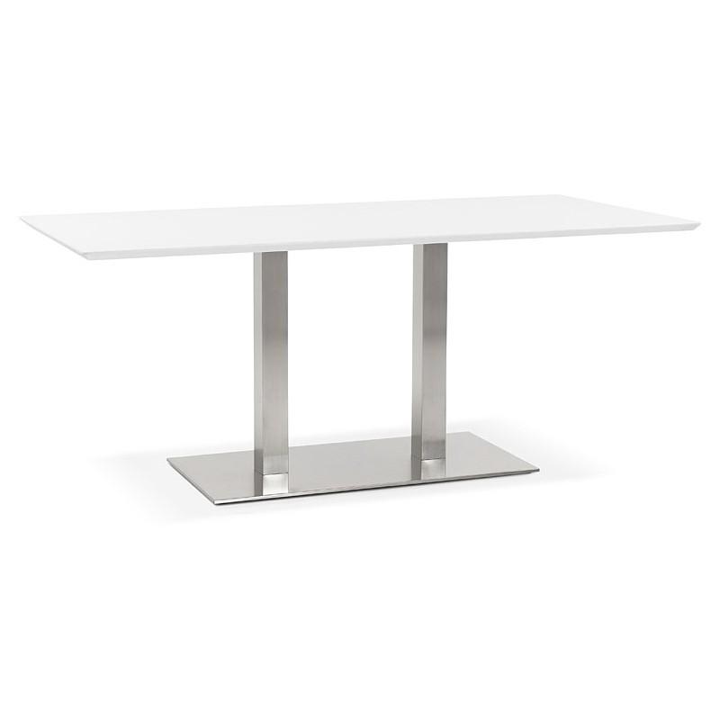 Tisch-Design oder Tabelle treffen CLAIRE (180 x 90 x 75 cm) (weiß)