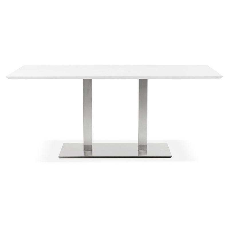 Table à manger design ou table de réunion CLAIRE (180x90x75 cm) (blanc) - image 39922