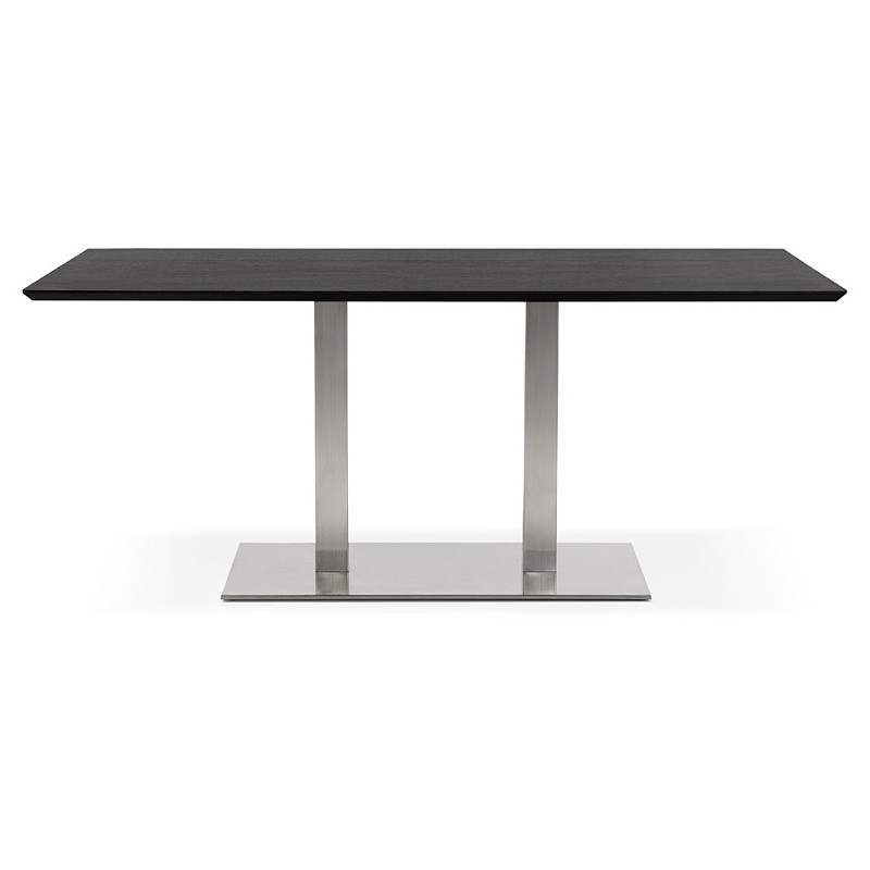 Table design or table of meeting CLAIRE (180 x 90 x 75 cm) (black ash finish) - image 39941