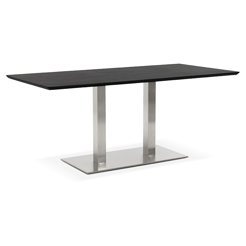 Table design or table of meeting CLAIRE (180 x 90 x 75 cm) (black ash finish) - image 39943