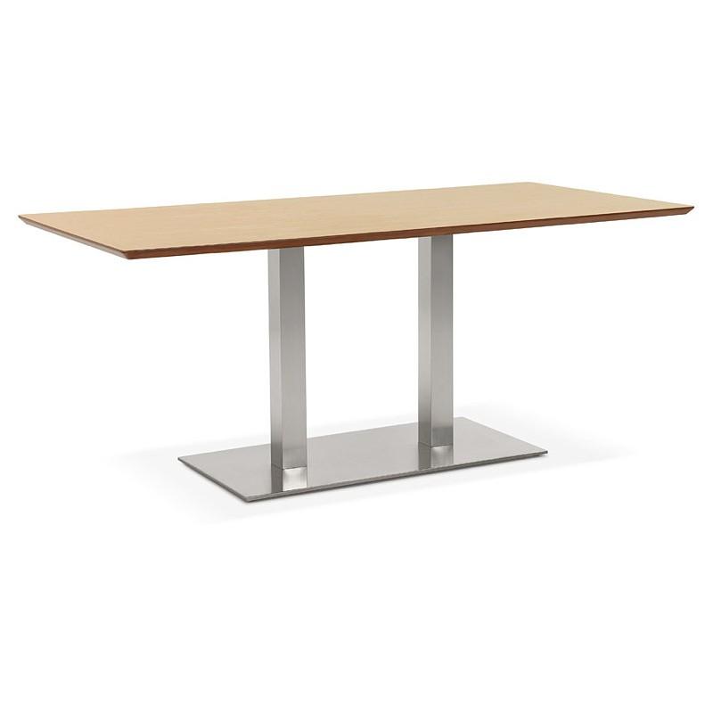 Table à manger design ou table de réunion CLAIRE (180x90x75 cm) (finition chêne naturel)