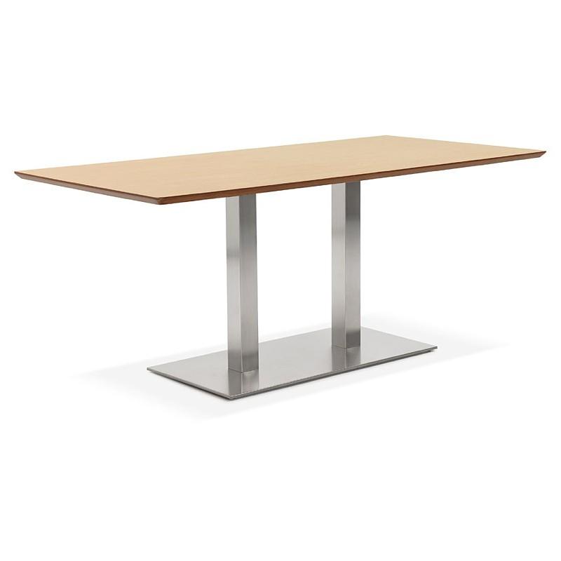Table à manger design ou table de réunion CLAIRE (180x90x75 cm) (finition chêne naturel) - image 39953