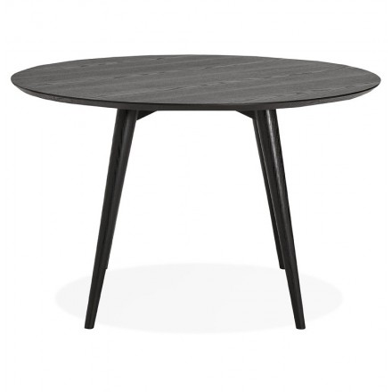 Round dining table design SOFIA (Ø 120 cm) (black ash finish)