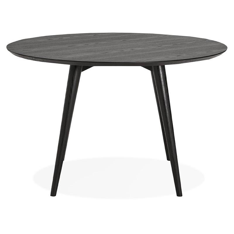 Table à manger ronde design SOFIA (Ø 120 cm) (finition frêne noir) - image 39960
