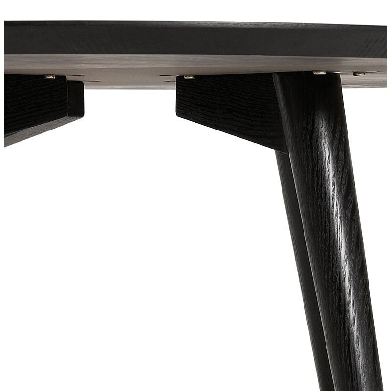 Table à manger ronde design SOFIA (Ø 120 cm) (finition frêne noir) - image 39966