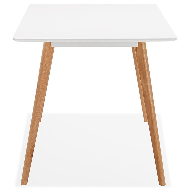 Table à manger design scandinave ou bureau MAYA (120x78x77 cm) (blanc) - image 39972