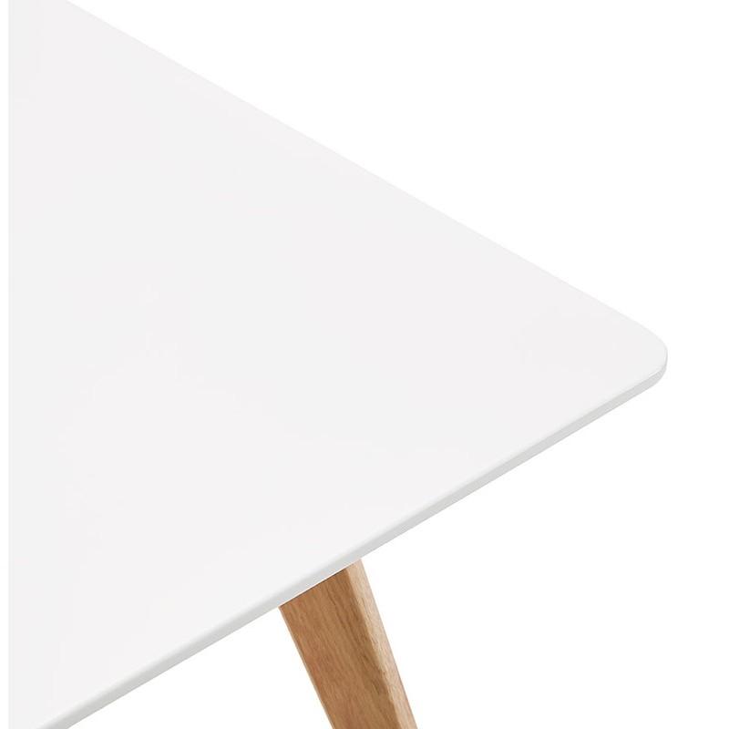 Table à manger design scandinave ou bureau MAYA (120x78x77 cm) (blanc) - image 39974