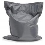 Pouf rectangulaire BUSE en textile (gris foncé)