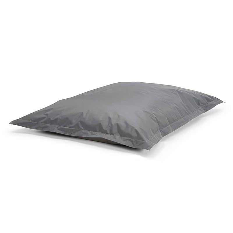 Pouf rectangulaire BUSE en textile (gris foncé) - image 39986