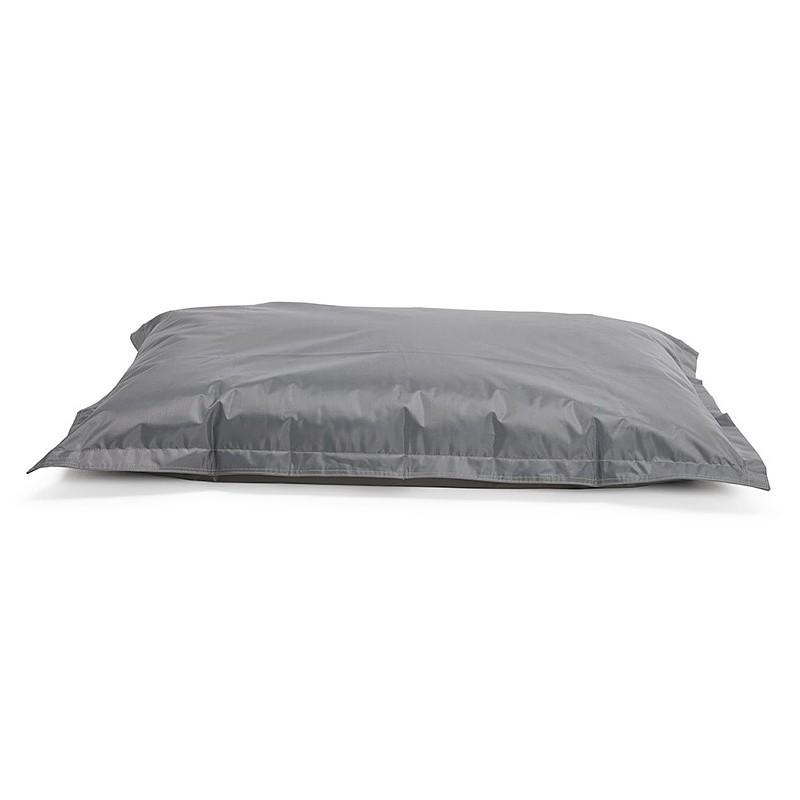 Pouf rectangulaire BUSE en textile (gris foncé) - image 39988