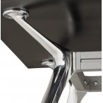 Desk table modern meeting (80 x 160 cm) AMELIE (black) glass