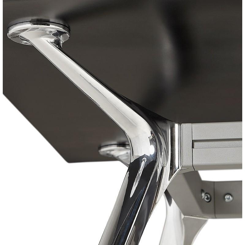 Bureau table de réunion moderne (80x160 cm) AMELIE en verre (noir) - image 40032
