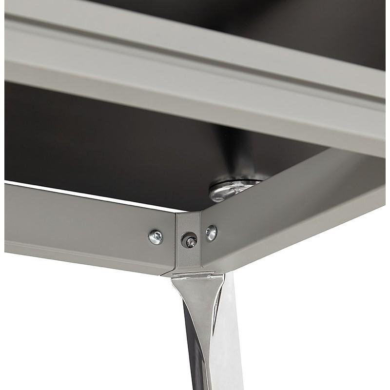 Bureau table de réunion moderne (80x160 cm) AMELIE en verre (noir) - image 40033