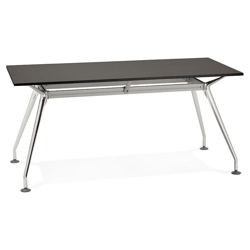 Bureau table de réunion moderne (80x160 cm) AMELIE en bois (noir) - image 40036