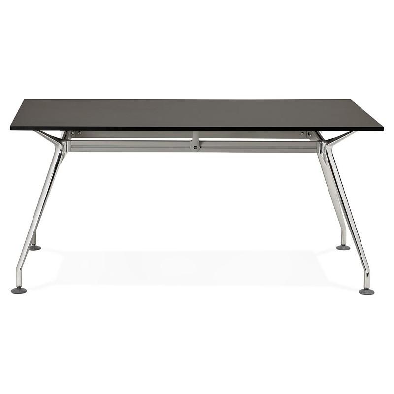 Bureau table de réunion moderne (80x160 cm) AMELIE en bois (noir) - image 40037