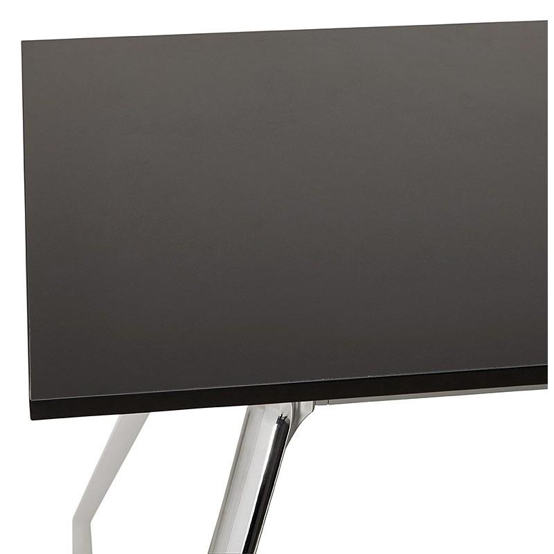 Bureau table de réunion moderne (80x160 cm) AMELIE en bois (noir) - image 40039