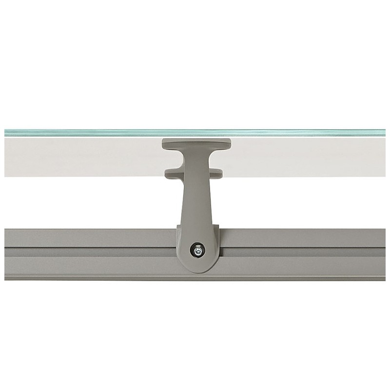 Riunione di scrivania tavolo moderno (80 x 160 cm) AMÉLIE in vetro (bianco) - image 40053