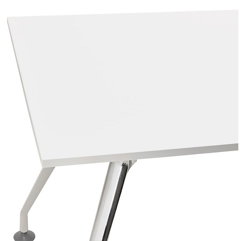 Bureau table de réunion moderne (80x160 cm) AMELIE en bois (blanc) - image 40058