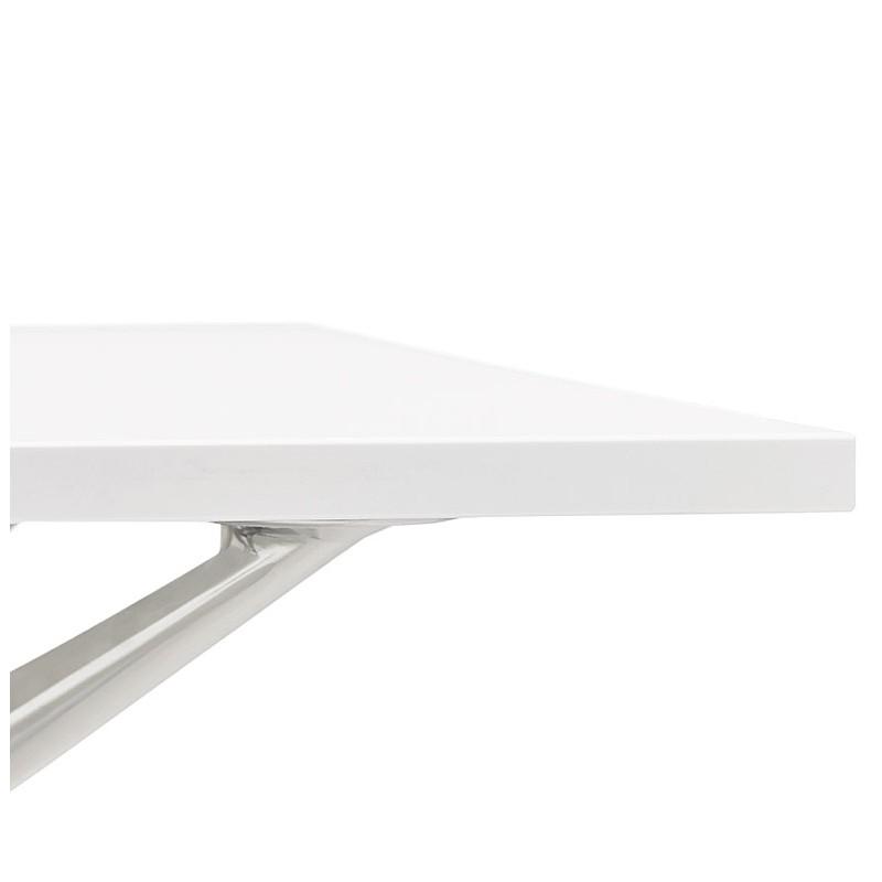 Bureau table de réunion moderne (80x160 cm) AMELIE en bois (blanc) - image 40059