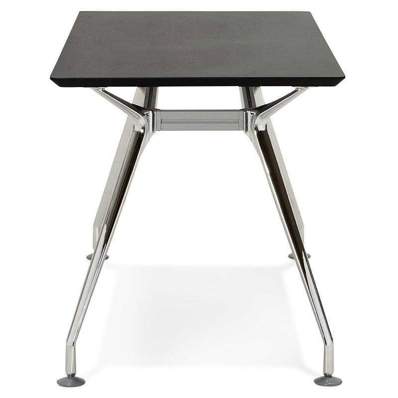 Bureau table de réunion moderne (70x150 cm) NOEMIE en bois plaqué frêne (noir) - image 40066