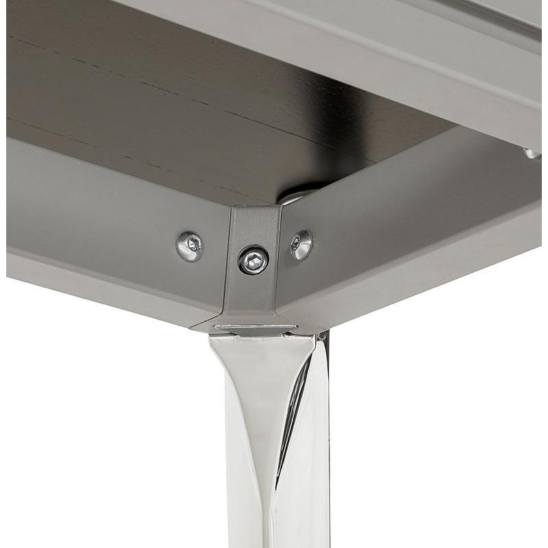 Bureau table de réunion moderne (70x150 cm) NOEMIE en bois plaqué frêne (noir) - image 40073