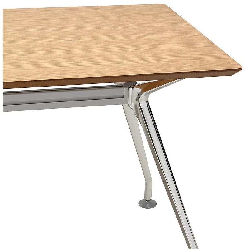 Bureau table de réunion moderne (70x150 cm) NOEMIE en bois plaqué chêne (naturel) - image 40080