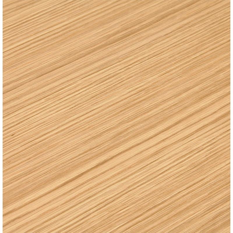 Bureau table de réunion moderne (70x150 cm) NOEMIE en bois plaqué chêne (naturel) - image 40082