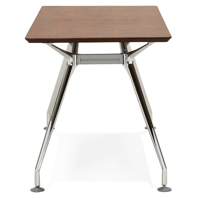 Bureau table de réunion moderne (70x150 cm) NOEMIE en bois plaqué noyer (noyer) - image 40089