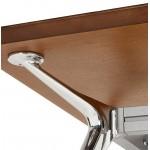 Bureau table de réunion moderne (70x150 cm) NOEMIE en bois plaqué noyer (noyer)