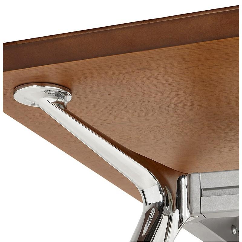 Bureau table de réunion moderne (70x150 cm) NOEMIE en bois plaqué noyer (noyer) - image 40095