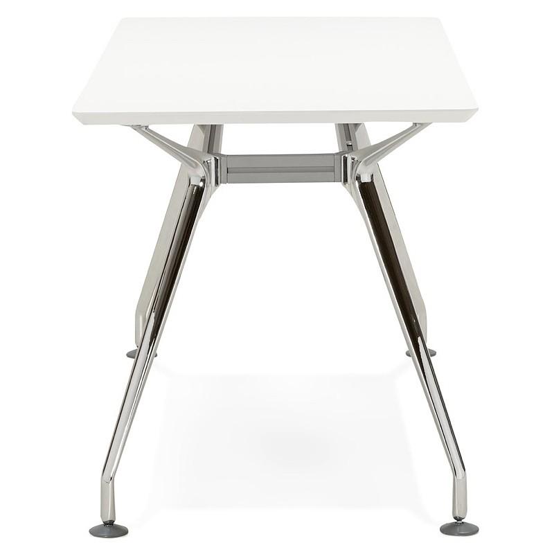 Bureau table de réunion moderne (70x150 cm) NOEMIE en bois (blanc mat) - image 40100
