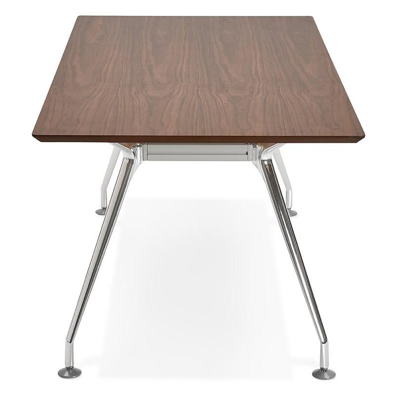 Schreibtisch Tisch Moderne Tagungsräume (90 X 180 Cm) LAMA Aus Holz  Furniert Nussbaum (Walnuss)