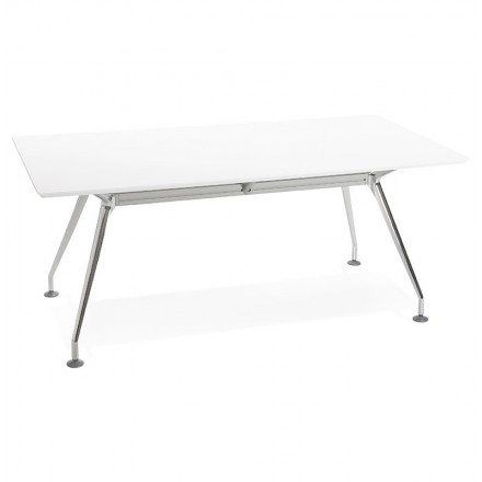 Office Modern Meeting 90 X 180 Cm Lama Wooden Table Matte White Amp Story 5798
