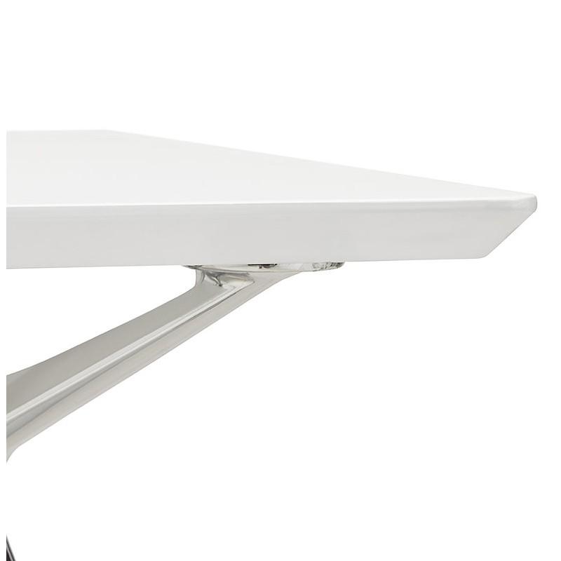 Bureau table de réunion moderne (90x180 cm) LAMA en bois (blanc mat) - image 40147