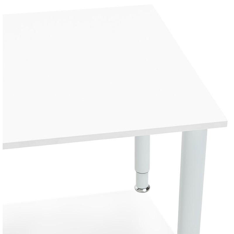 Bureau table de réunion moderne (80x160 cm) LORENZO en bois (blanc) - image 40160